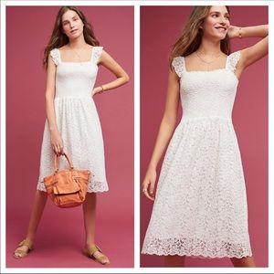 Anthropologie Maeve Anastasi Smocked Dress